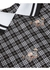 Puff-sleeve thomas bear print check cotton blouse - Burberry