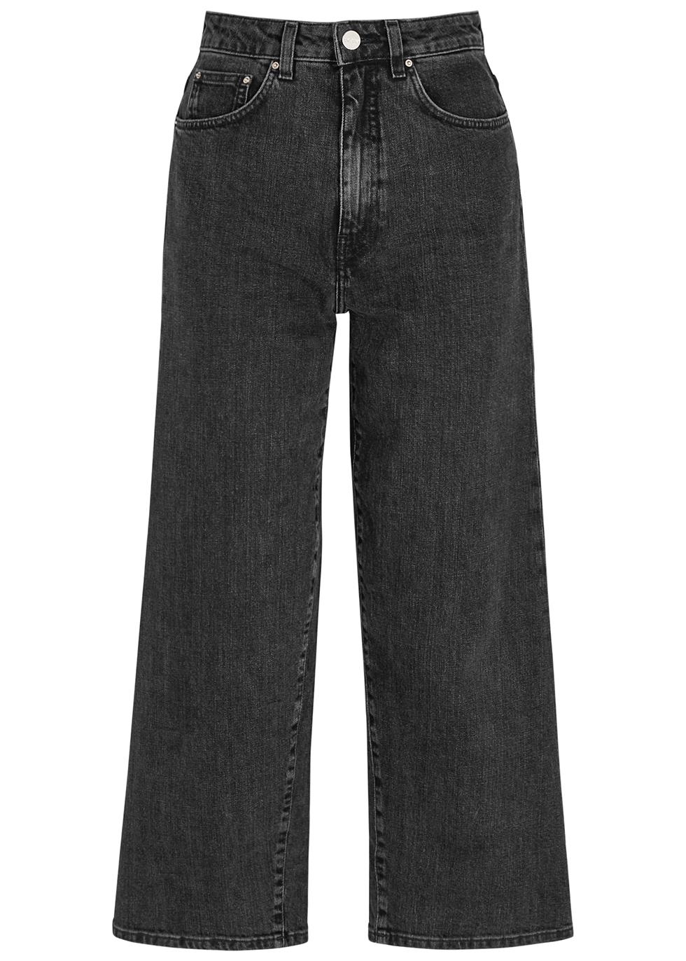 Dark grey wide-leg jeans