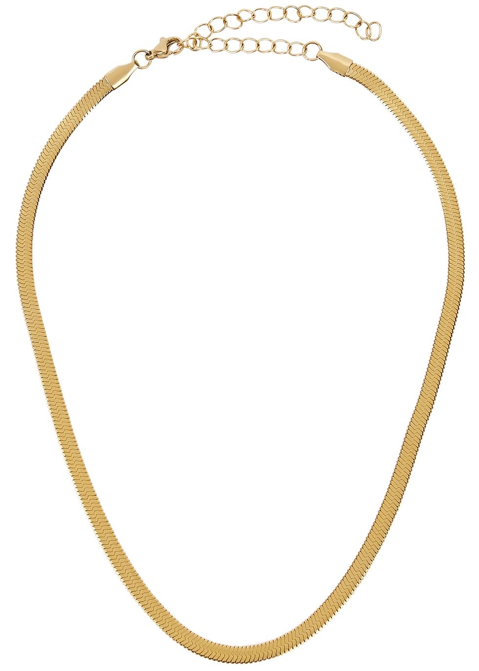Hailey Herringbone gold-plated choker