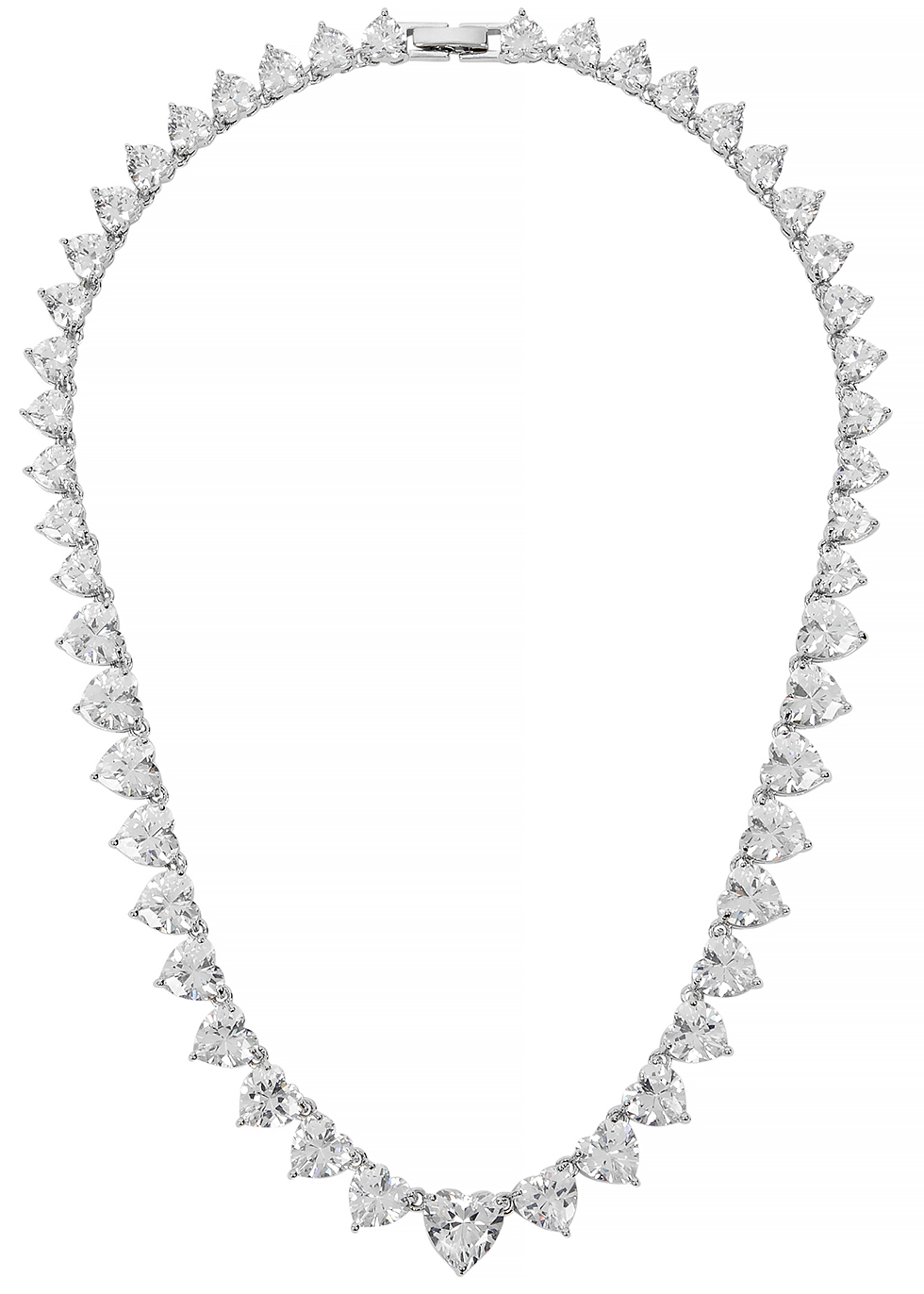 Solitaire Heart crystal-embellished necklace