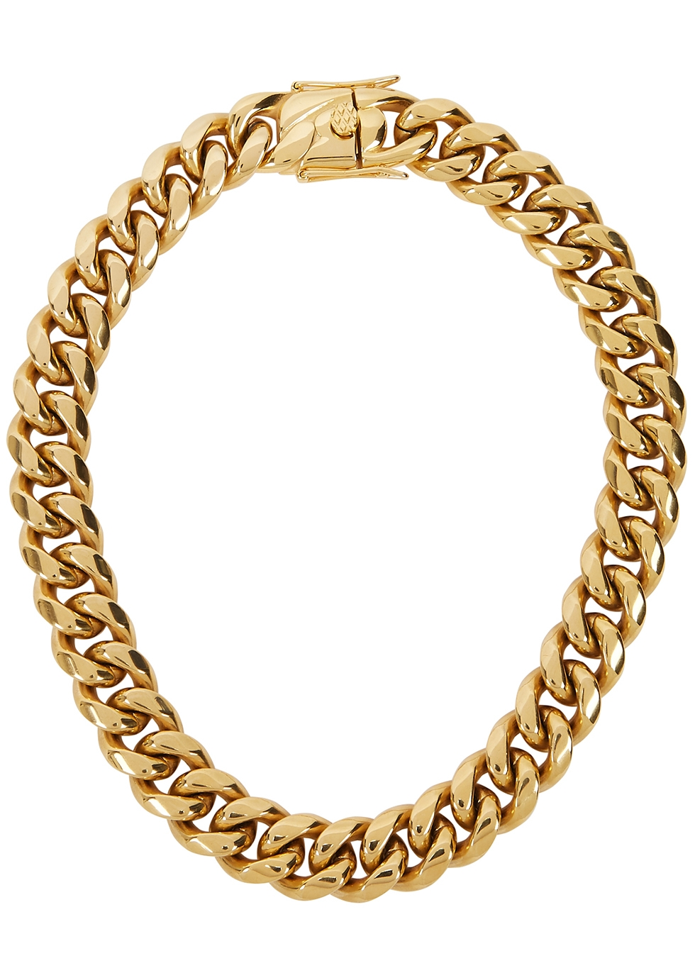 Ruth gold-plated chain necklace