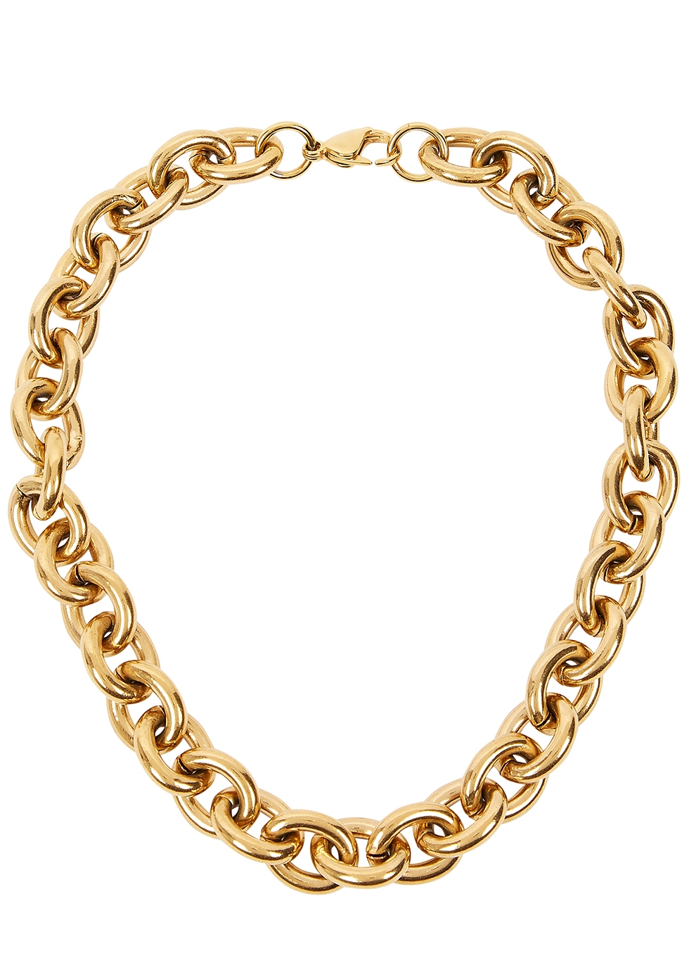 Alexandria gold-plated chain necklace