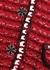 Red textured-knit mini dress - Self-Portrait