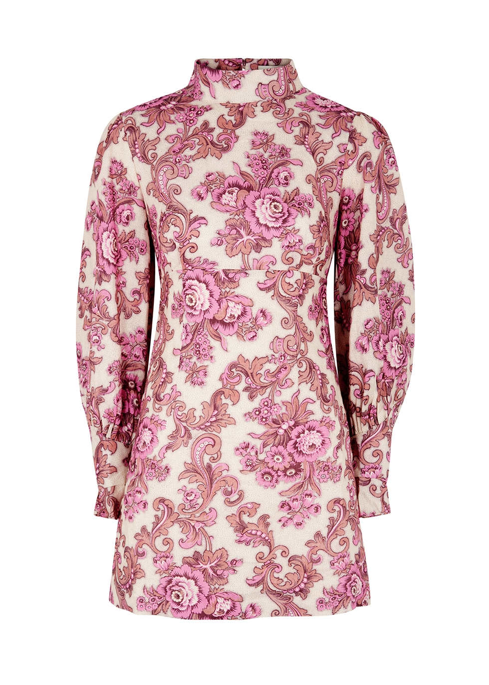 Isla printed linen mini dress