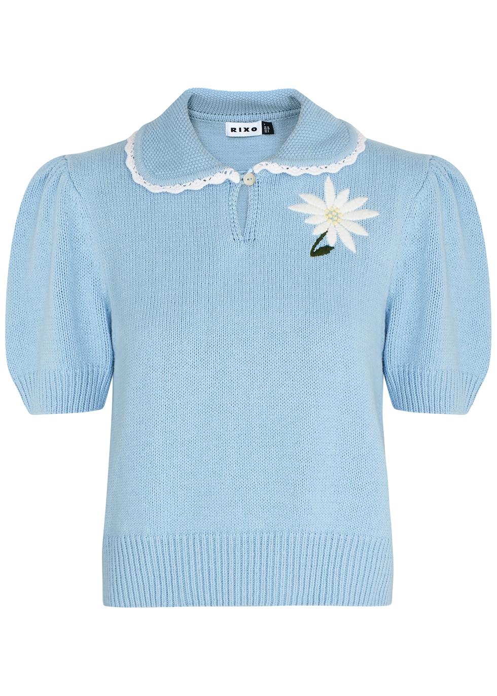 Annalise blue knitted jumper