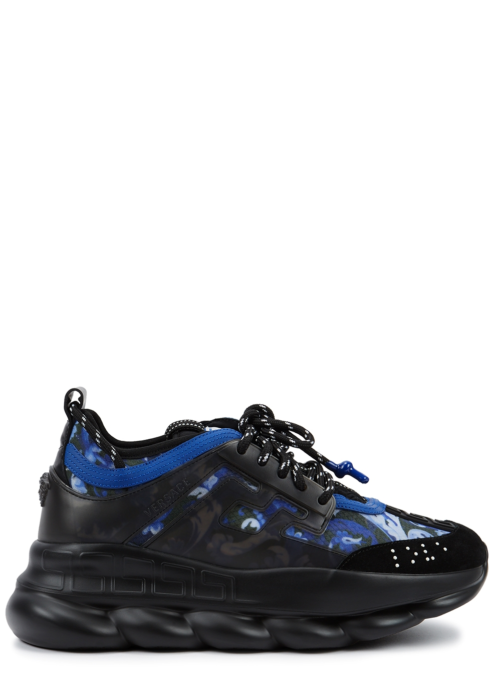 Chain Reaction black printed sneakers