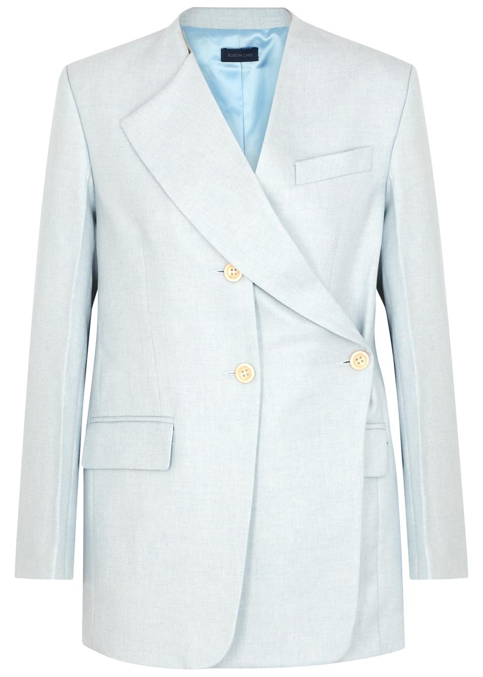 Oleta light blue wool blazer