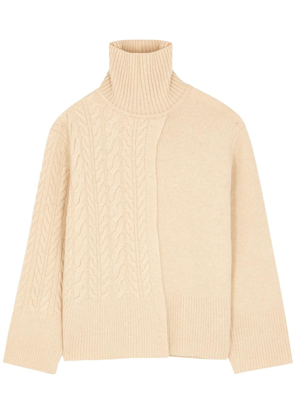 Jess cream wool-blend jumper