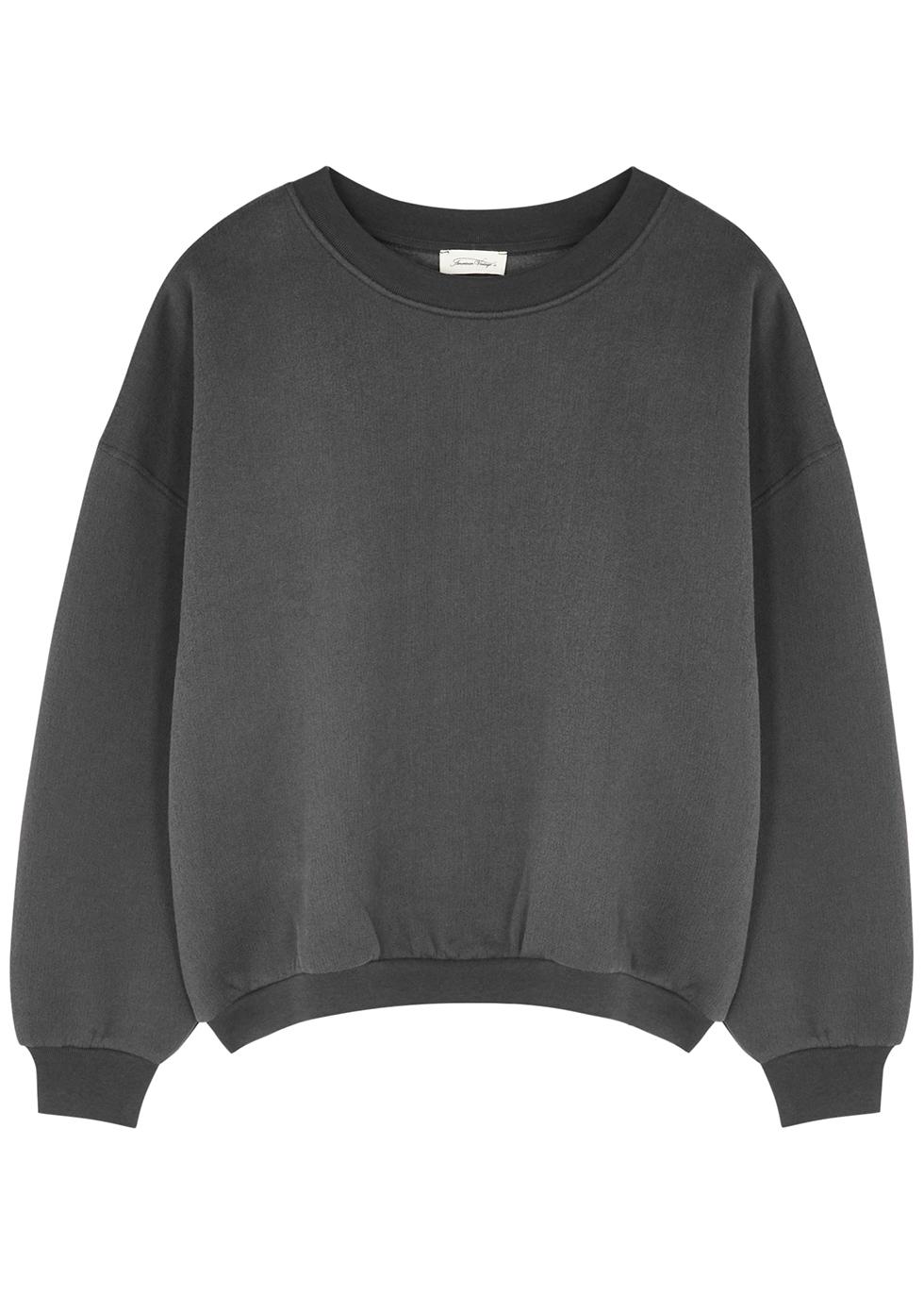 Ikatown dark grey cotton-blend sweatshirt