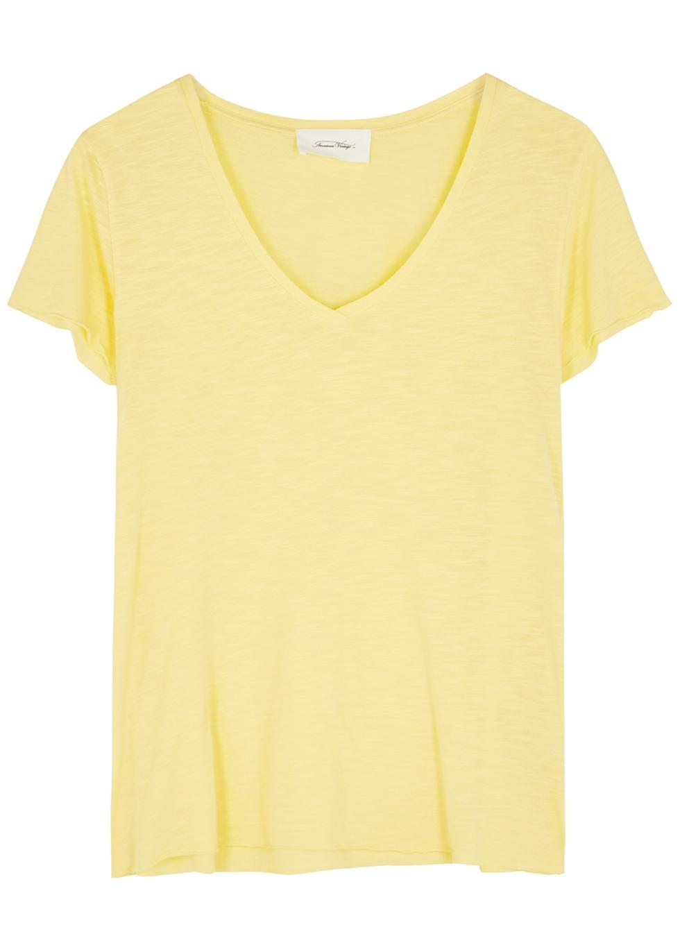 Jacksonville yellow slubbed jersey T-shirt