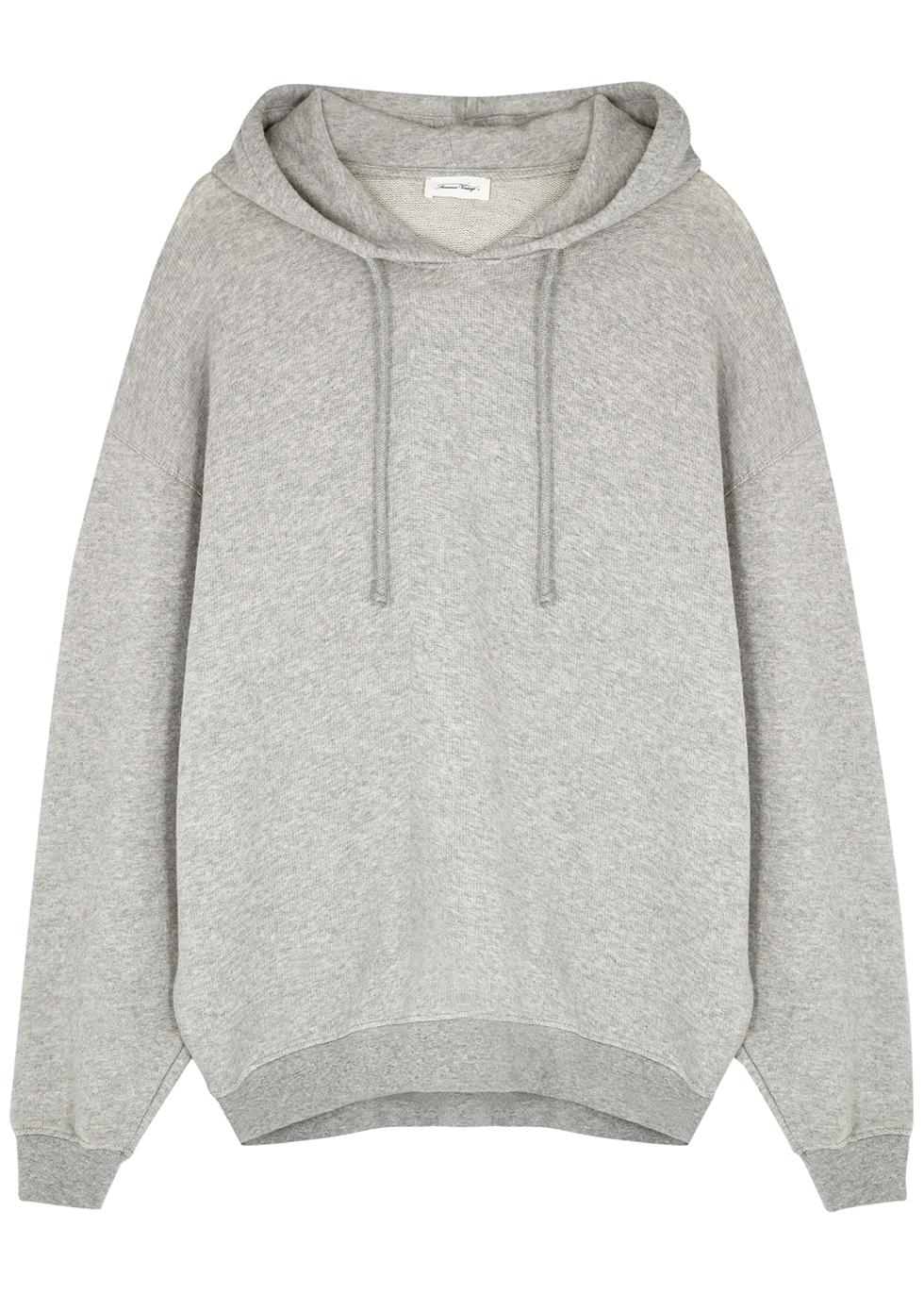 Neaford grey hooded cotton-blend sweatshirt