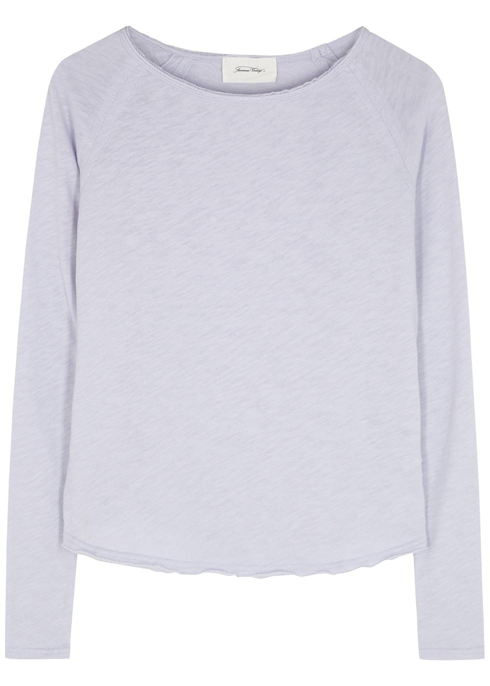 Sonoma lilac slubbed cotton top