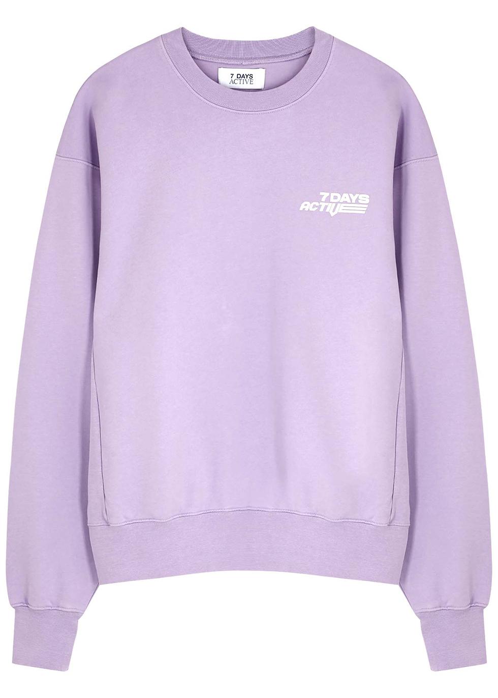 Monday purple cotton sweatshirt