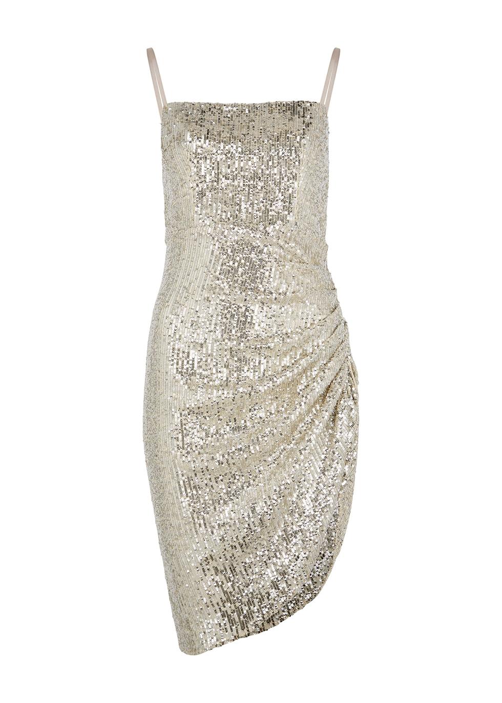 Osborne silver sequin mini dress