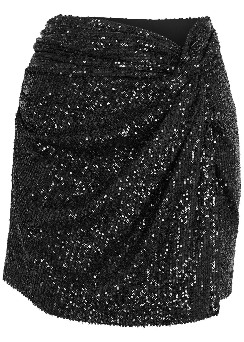 Islay black sequin mini skirt