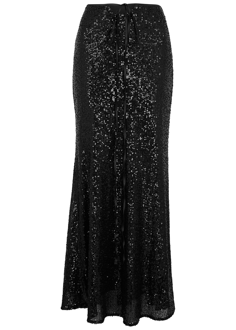 Boyd black sequin maxi skirt
