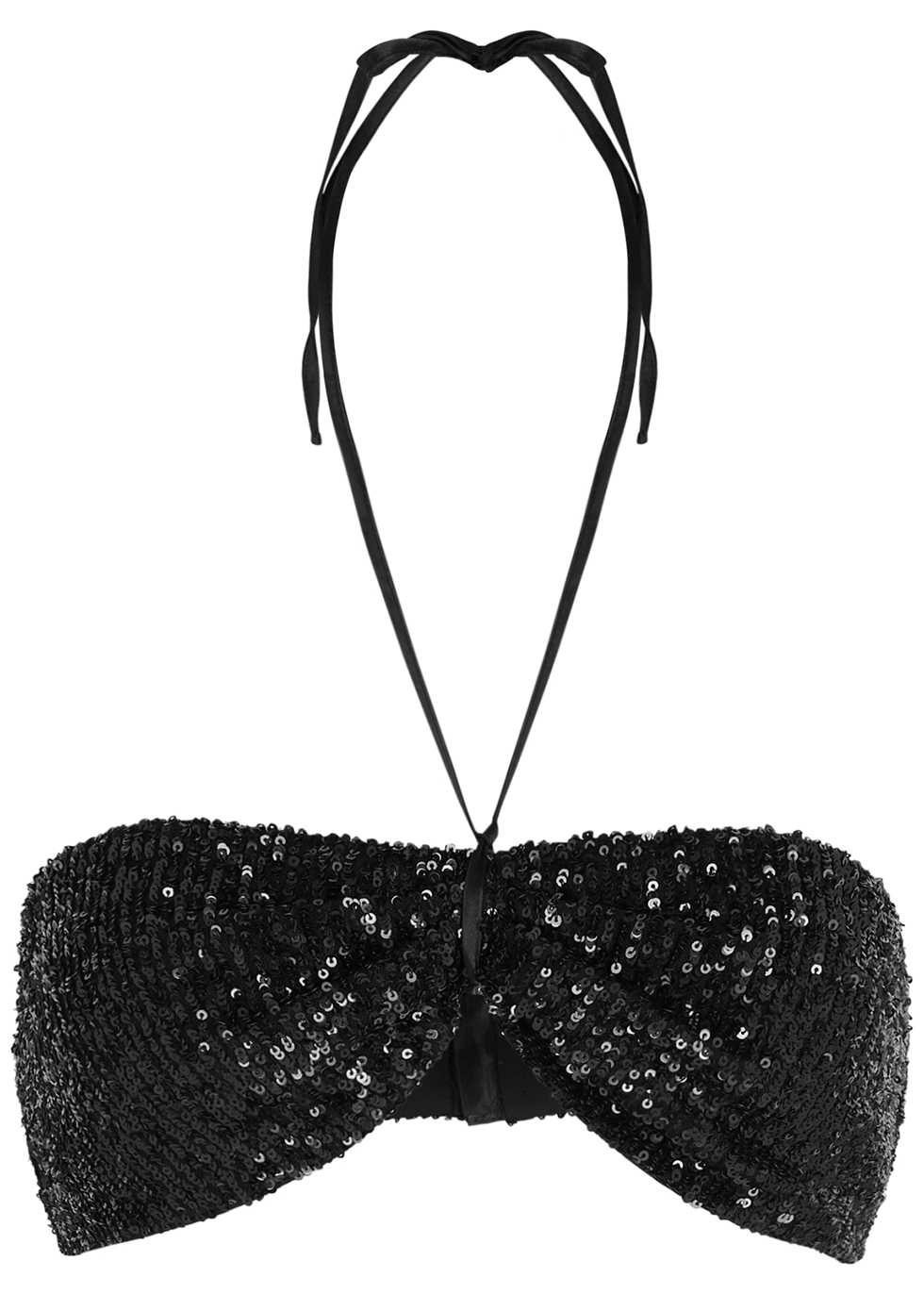 Patty black sequin bra top