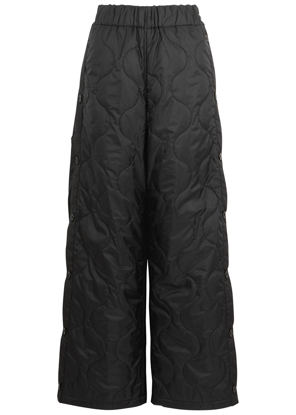 Black padded shell trousers