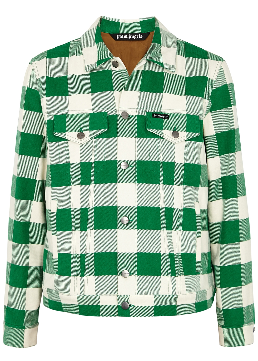 Checked brushed flannel jacket