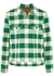 Checked brushed flannel jacket - Palm Angels