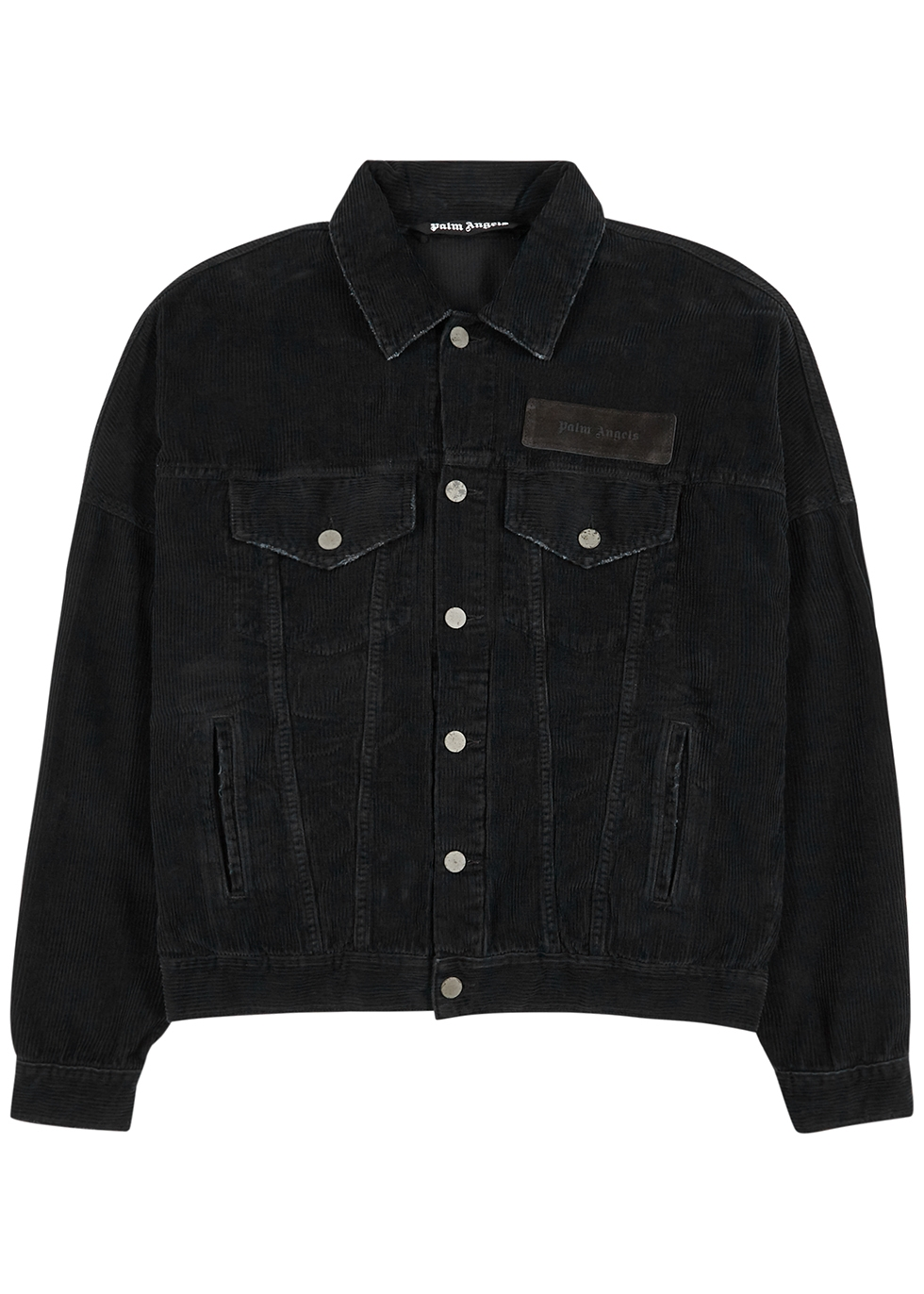 Black logo corduroy jacket
