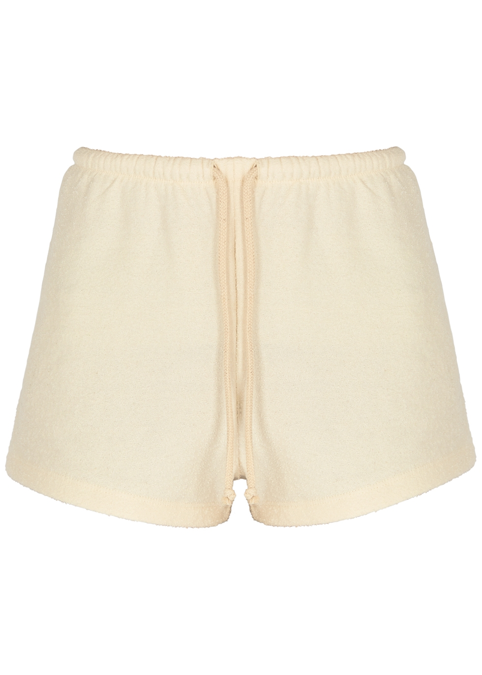 Bobypark off-white terry cotton shorts