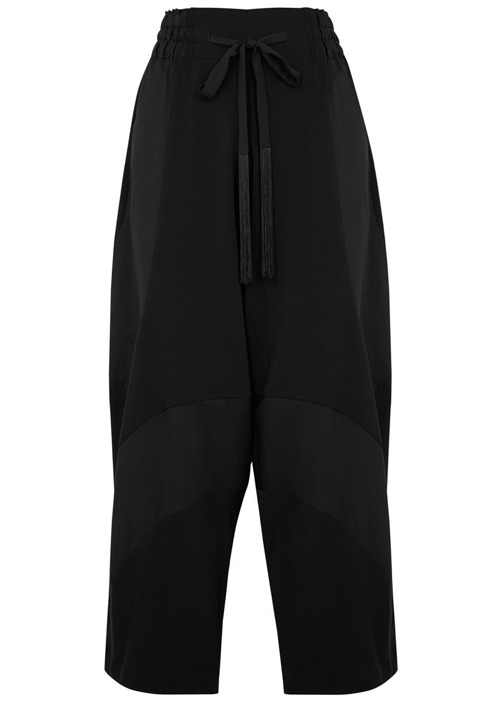 Diverge black wide-leg trousers