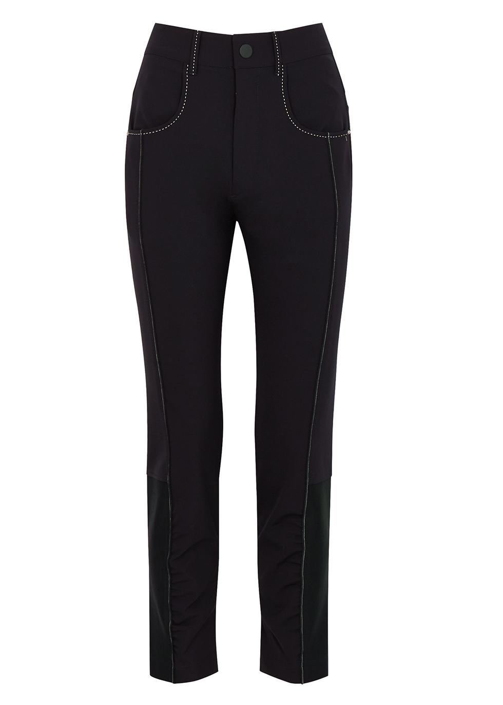 Proximity navy slim-leg trousers
