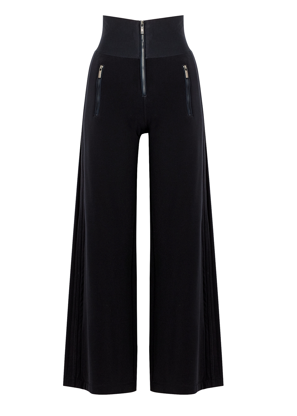Equity navy wide-leg trousers