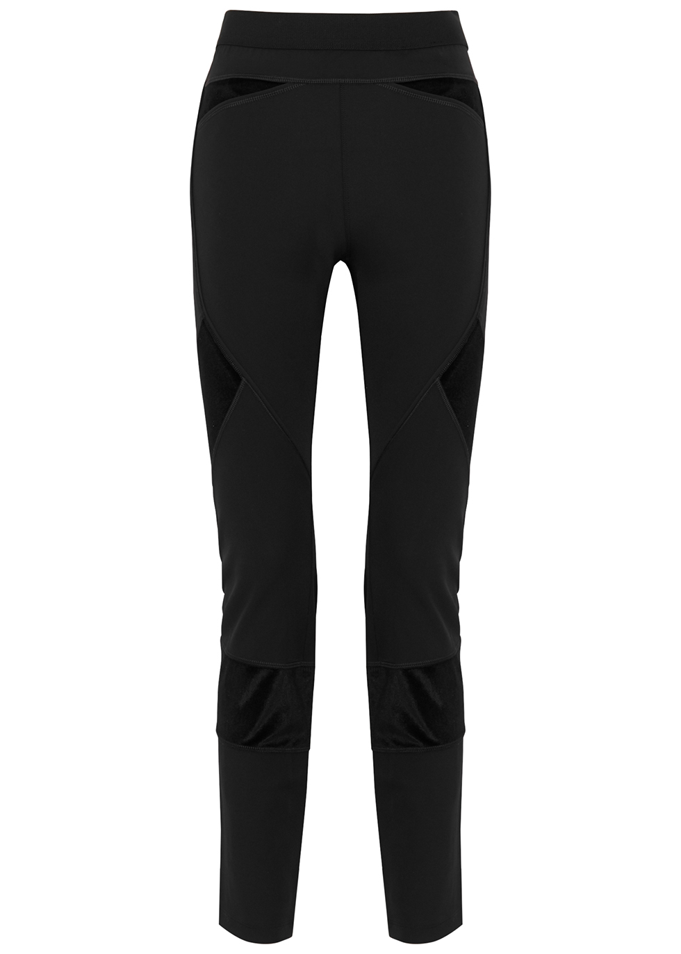 Lay Out black stretch-jersey trousers