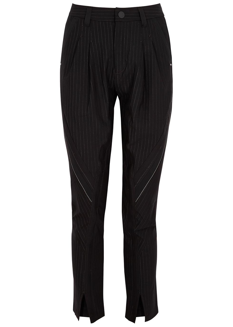 Swerve black slim-leg trousers