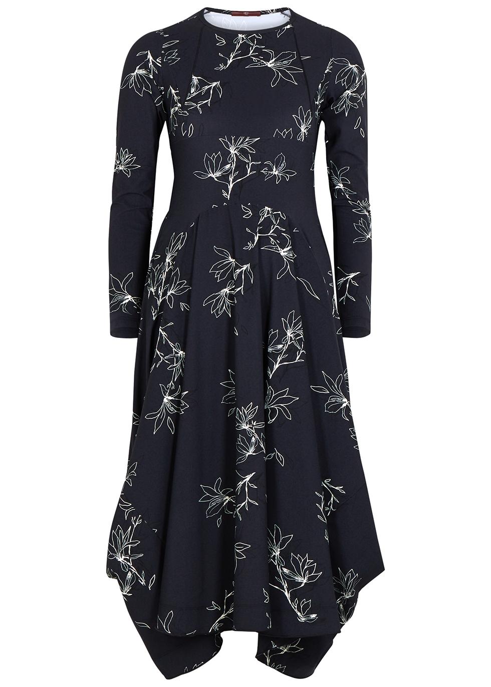 Exclaim floral-print stetch-jersey midi dress