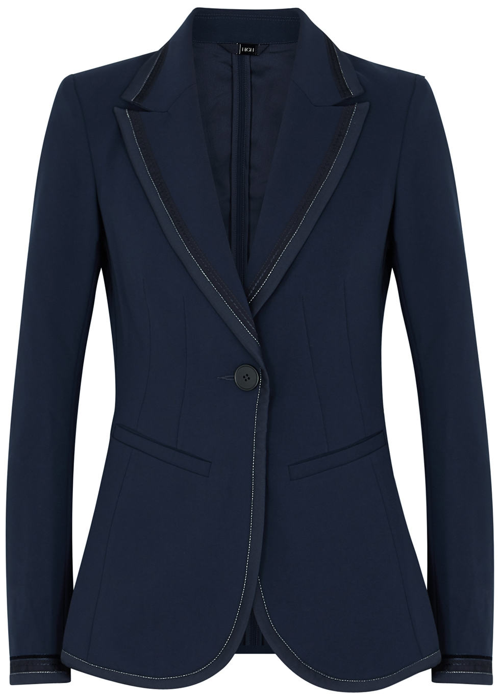 Profound navy stretch-crepe blazer