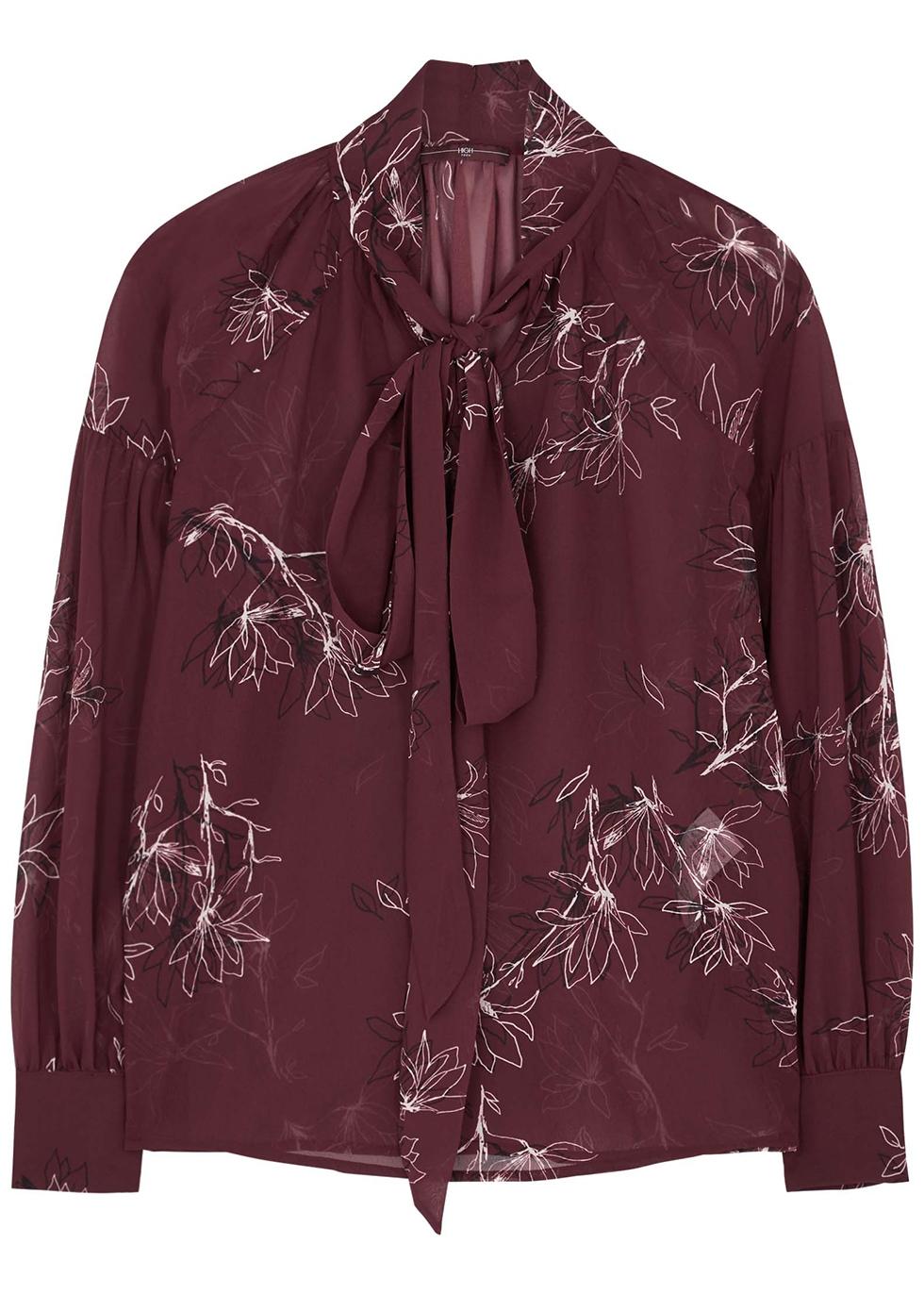 Perception floral-print chiffon blouse