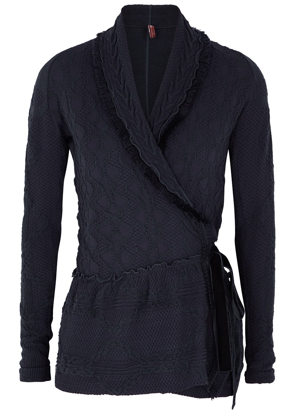 Ardent navy cotton-blend cardigan
