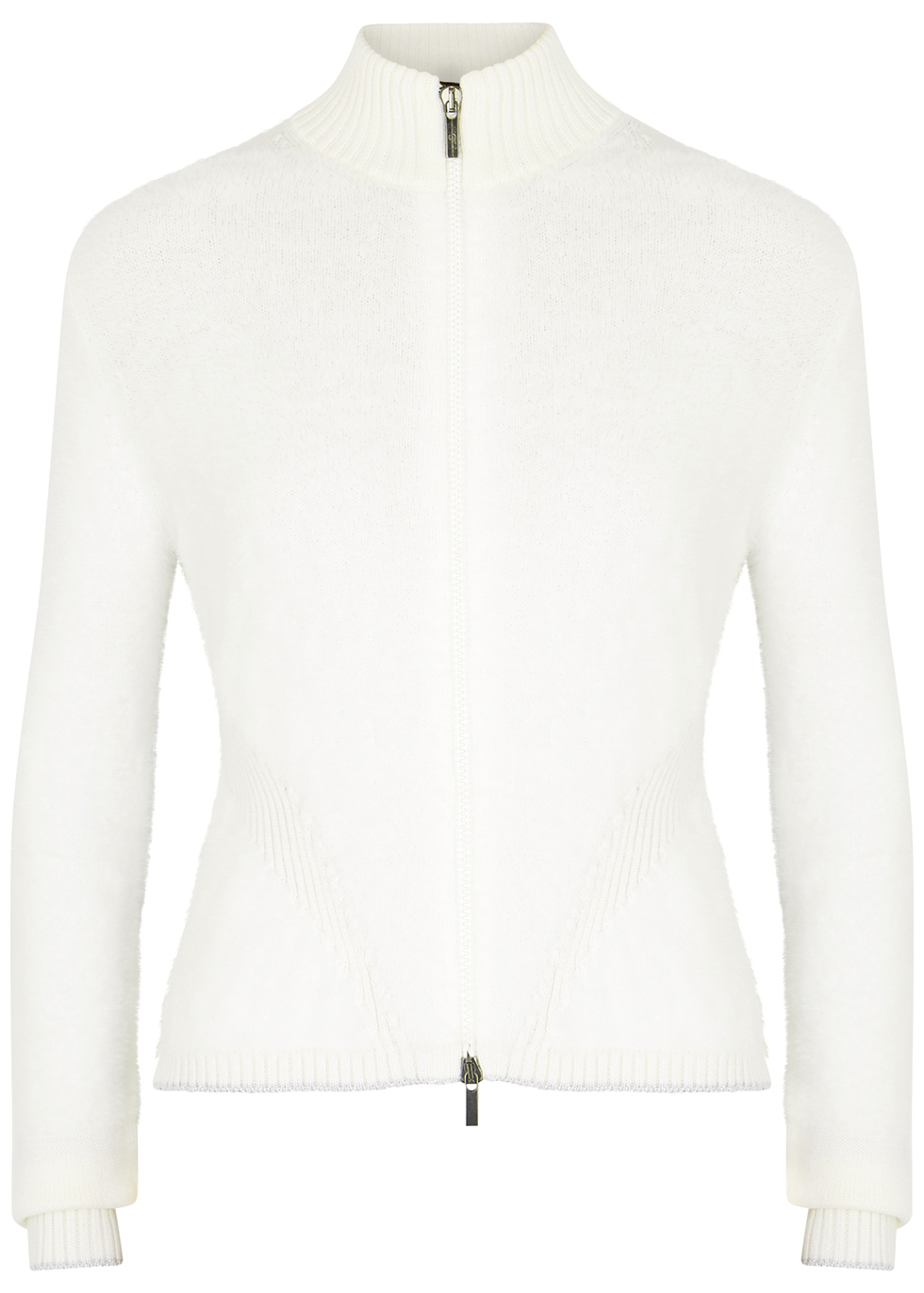 Envy white textured-knit jumper