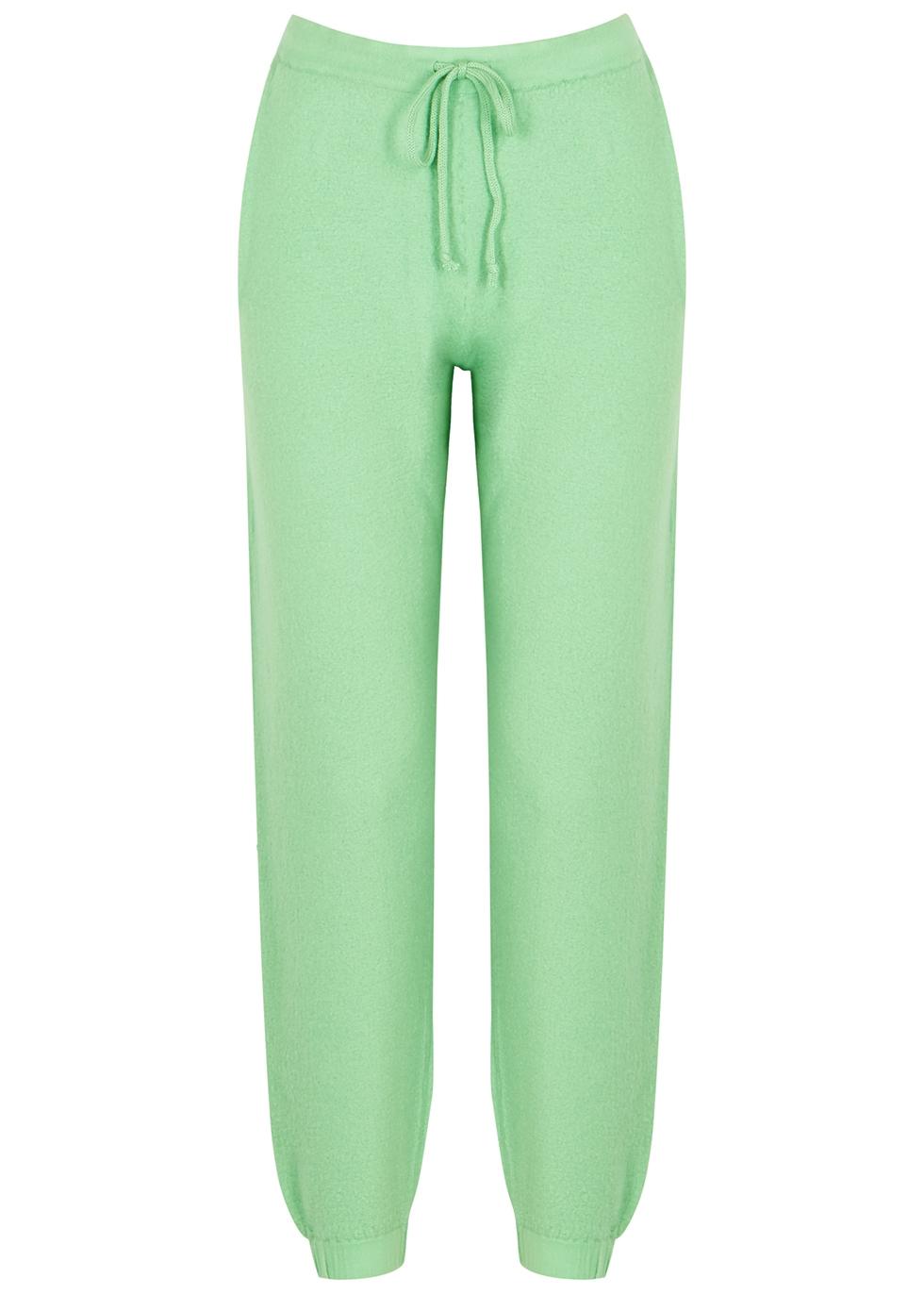 Tadbow green merino wool sweatpants