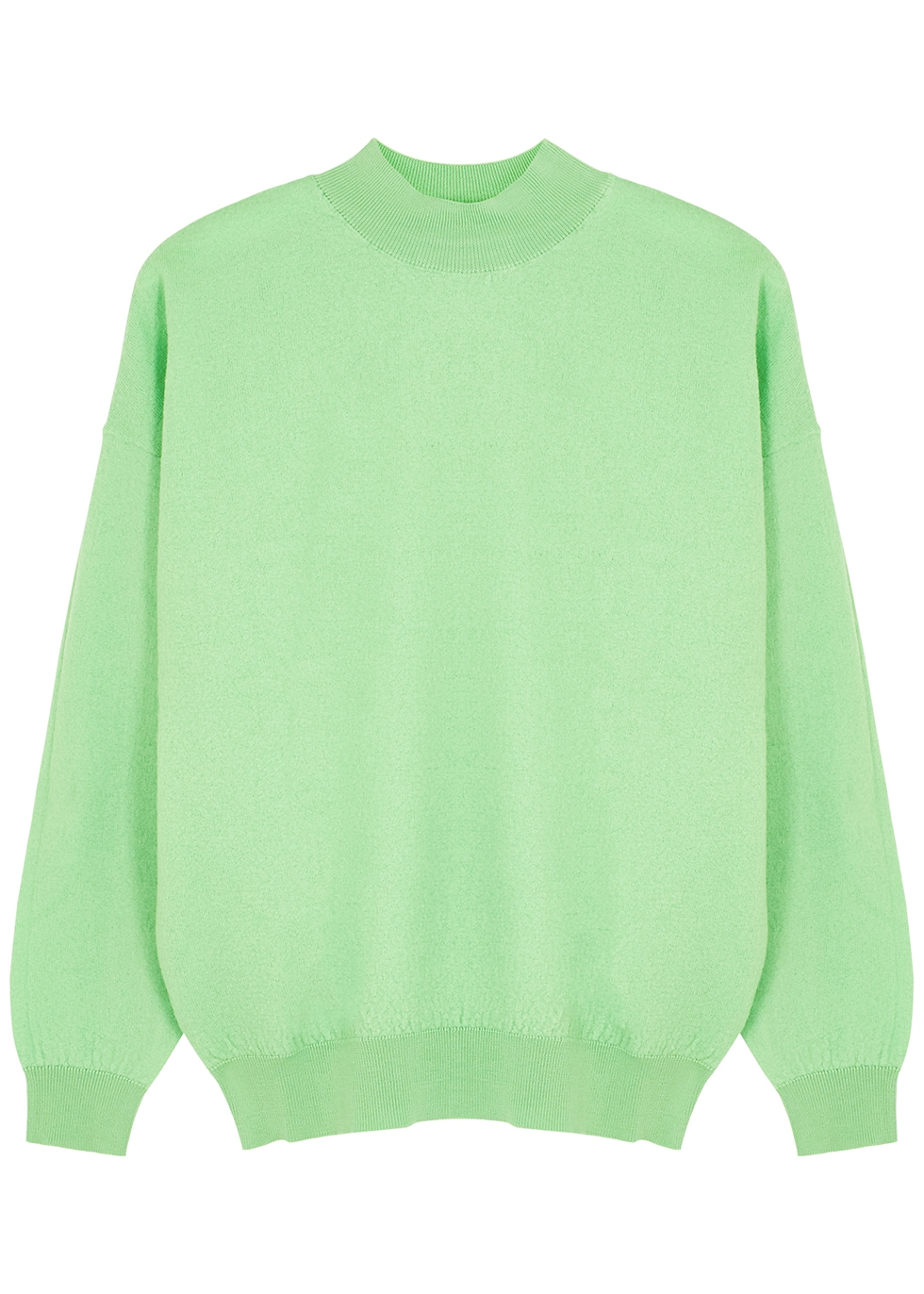 Tadbow green merino wool jumper
