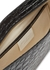 Beverley black crocodile-effect shoulder bag - BY FAR