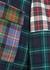 Tartan patchwork wool coat - Erika Cavallini