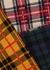 Tartan patchwork wool-blend jumper - Erika Cavallini