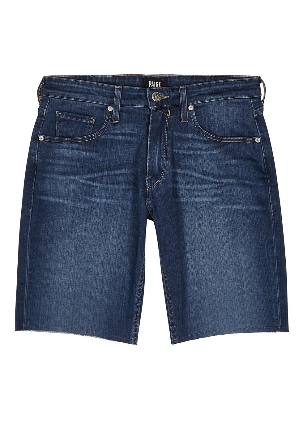 Federal blue stretch-denim shorts