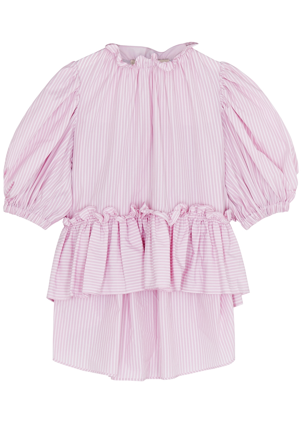 Helle pink striped cotton top