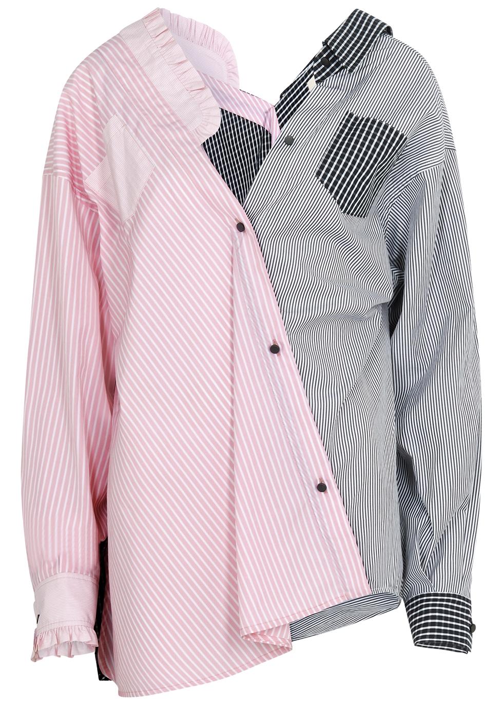Emilie asymmetric cotton shirt