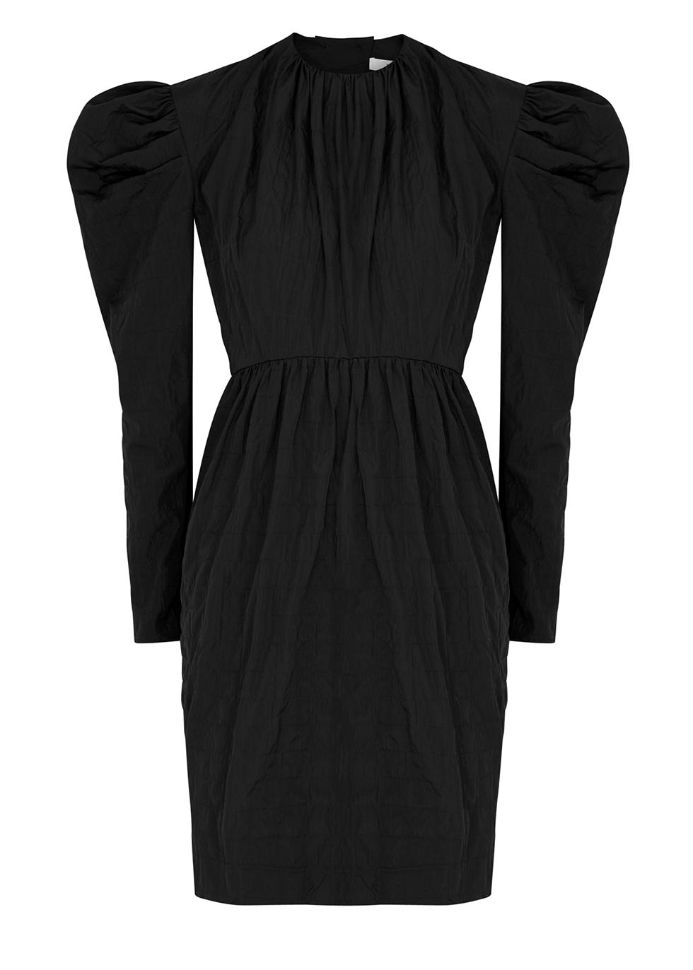 Lykke black shell mini dress