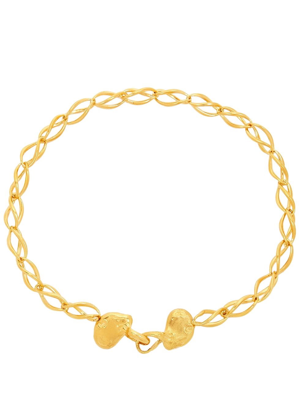 The Wandering Stars 24kt gold-plated choker