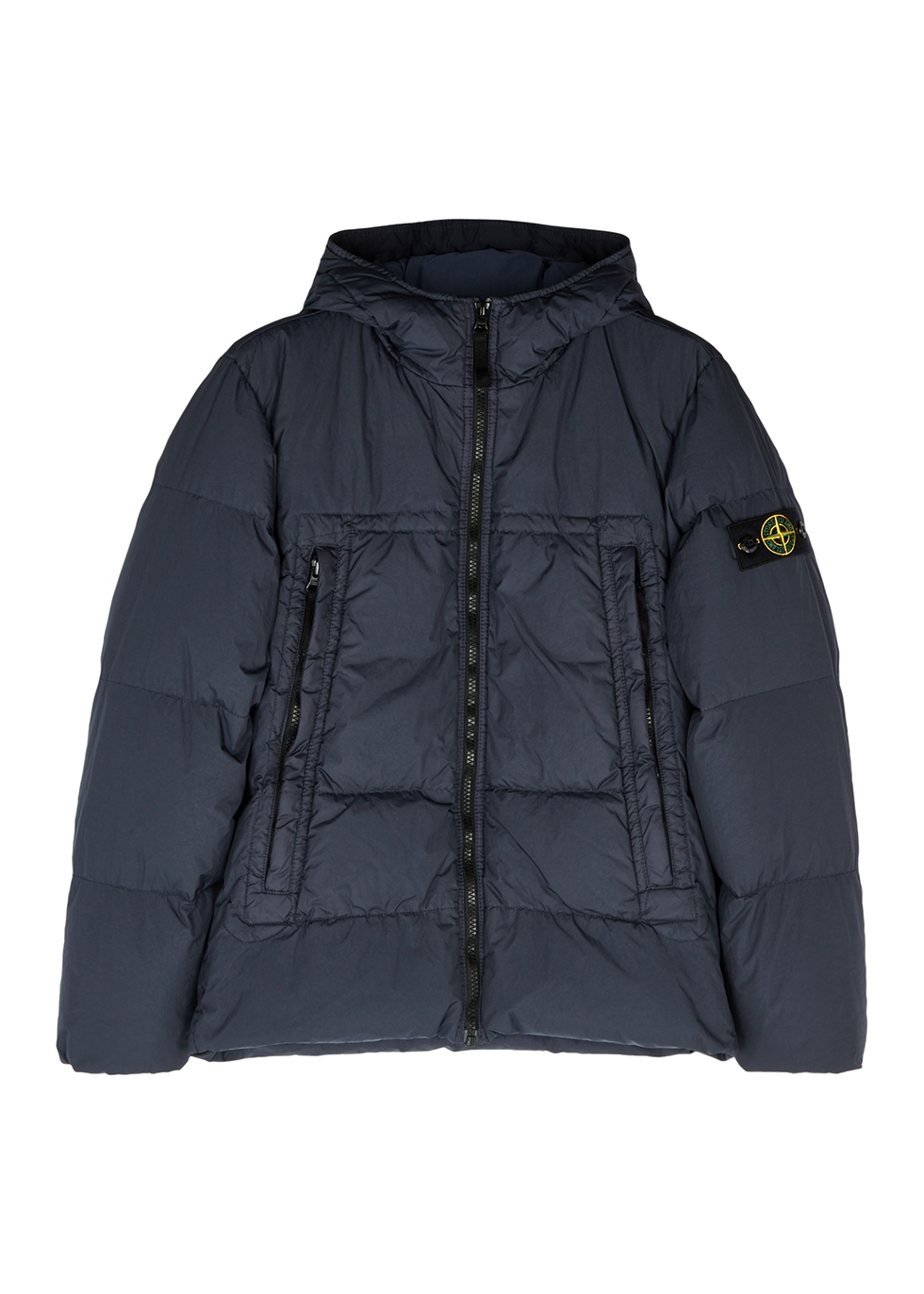 Crinkle Reps navy shell coat (10-12 years)