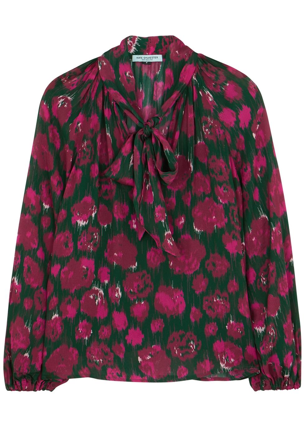 Gloria printed chiffon blouse