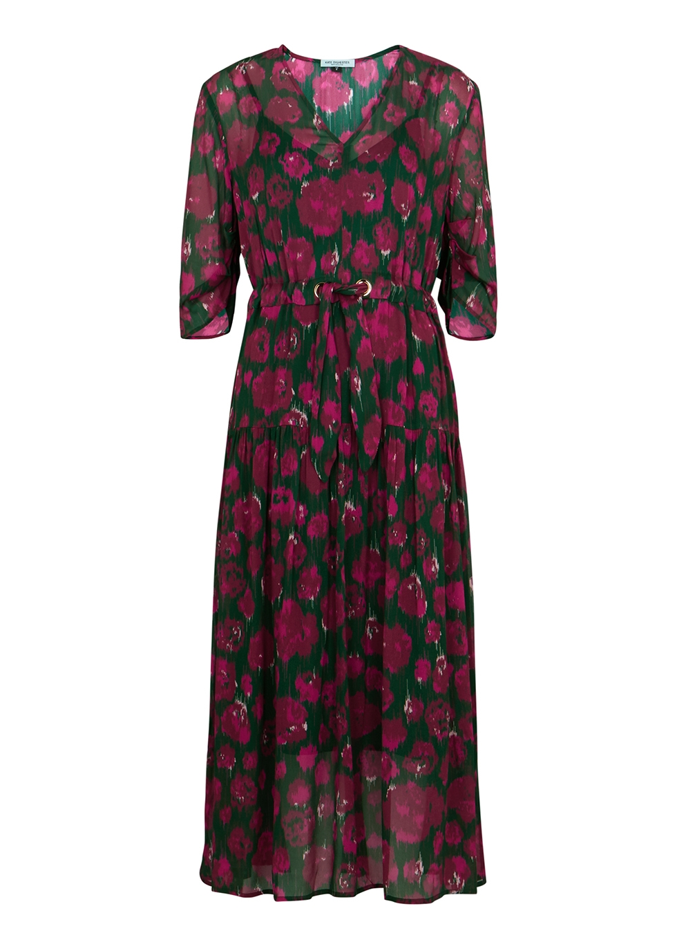 Conor printed chiffon midi dress