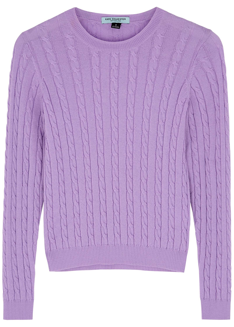 Connie lilac cable-knit jumper